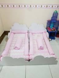 Mini cama nuvem grão  de gente completa