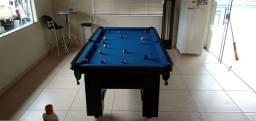 Mesa Charme e Jantar Cor Preta Tecido Azul Mod. YYYU4166