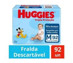 Fralda Huggies 92 un M