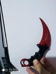 faca karambit vermelho tatica cs go red