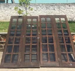 porta balcão de madeira imbuia