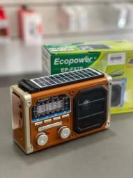 Rádio Ecopower Com Carregador Solar