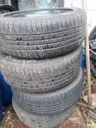 Jogo de pneus aro 15 com rodas