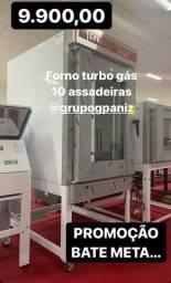 Forno turbo 10 telas gás - GPANIZ - JM equipamentos