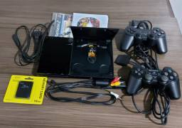Playstation 2 Slim Destravado Completo