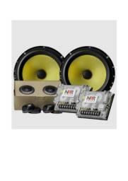 Alto falante Kit 2 vias NAR 650-CS-3 (6 POLS. / 120W RMS) Alta Qualidade Sonora