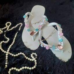 Sandalia de luxo