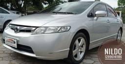Civic LXS 1.8 2007 Impecável! Couro! Troco e financio! Chama no zap!