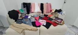 Kit roupas fem. lote 47 peças, c/ marcas:Dzarm, Via Tolentino, Dutmy, Osmoze, etc+brinde!