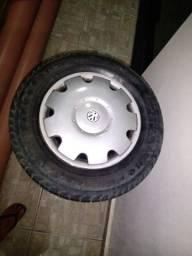 Jogo de aro 13 com pneus