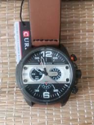 Relógio original Curren preto e prata