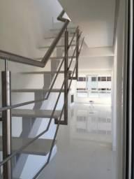 Liquidação corrimão em aço inox escovado e escada em ferro sem uso