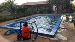 Casa com piscina muito Boa