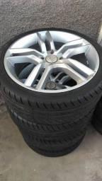 Roda 17 com 4 pneus novo 205/40r17