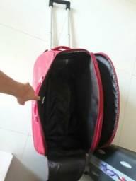 Vendo mala vermelha de couro