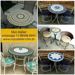 Mesa Mosaico, moveis, mesa varanda