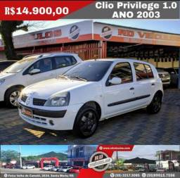 Clio Hatch Privilege 1.0 Ano 2003 Completo - 2003