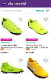 Chuteiras Nike menos da metade do preço