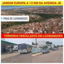 TERRENOS PARCELADOS HJ!!! LUZIMANGUES ao lado da TO 080 e perto Praia