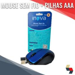 Mouse sem fio + pilhas AAA