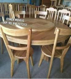 Itinga Móveis toda linha de móveis em madeira, Mesa em prancha única, cadeiras, bancos.