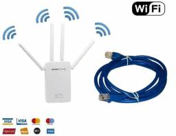 Kit Cabo Internet + Repetidor Wifi, Amplificador Wireless, 4A Wi-fi