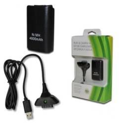 Bateria 4800mah Com Carregador Para Controle Xbox 360 - Minichina