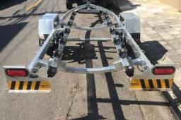 Carretas Rodoviárias para barco e Jet ski - Simples e galvanizada