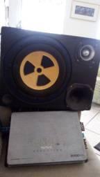 Módulo e caixa som