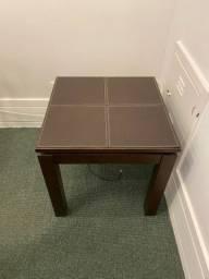 Mesa de canto - Superfície de couro