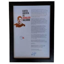 Carta Aberta de Ronaldo Nazário Autografada