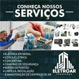 Eletricista! Segurança eletrônica! Limpeza de Central de Ar!