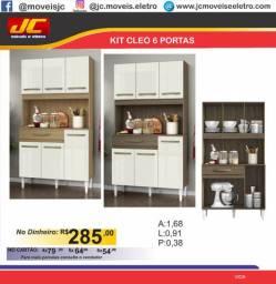 Armário de cozinha Cléo 6 portas   u