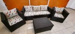 Título do anúncio: Conjunto de sofá em vime sintetico, direto da fábrica!