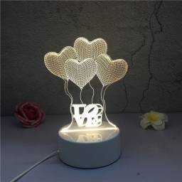 Luminária de led 3d