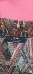 camisa manga longa bershka