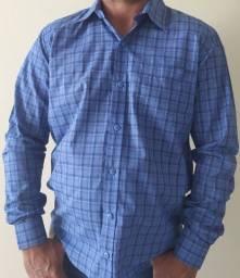 Camisa xadrez em tricoline