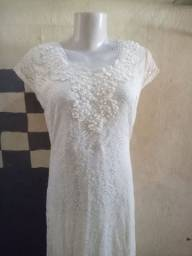 Vestido branco para festa de casamento