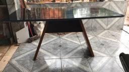 Mesa tampo de vidro preto!