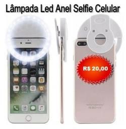 Lâmpada Led Anel Flash Selfie Luz P/ Celular Notebook 3 Estágios