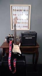 Kit guitarra e cubo