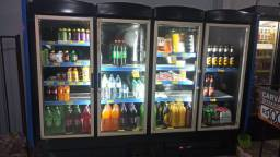 geladeira expositora 4 portas metalfrio gelando -4ºC