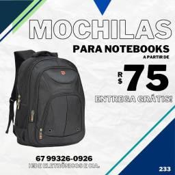Mochilas para Notebook (entrega grátis)