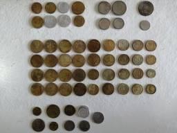 Coleção de moedas antigas (84 moedas)