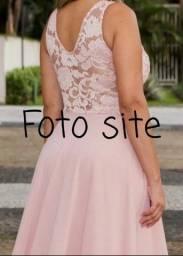 Vestido longo Rose Plus Size