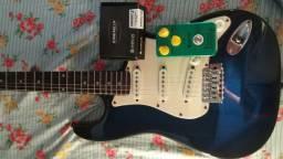 Guitarra Memphis 1985 + Pedal + fonte landscaspe + Bag + pedal