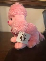 Cachorrinho de pelúcia rosa