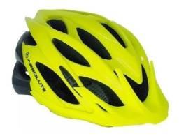 Capacete Ciclismo Bike Absolute Wild Led Amarelo/preto M/g