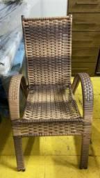 Cadeira de palha estilo decoração