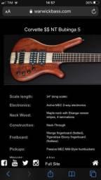 Vendo Bass Warwick Custom Shop Alemão